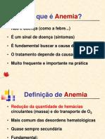 Anemias Visão Geral