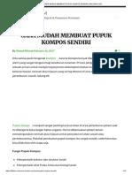 Cara Mudah Membuat Pupuk Kompos Sendiri _ Ahlitani.com
