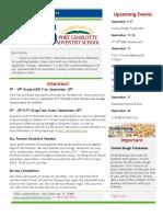 PCAS Newsletter 09-06-2018