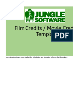 Film Credits Worksheet