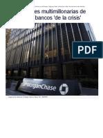 Las sanciones a los bancos en USA