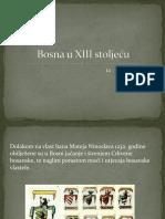 Bosna u XIII Stoljeću