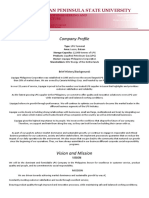 Company Profile and Probs and Sols