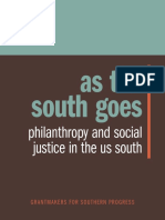 As the South Goes Philanthroy and the Social Justice in the South US