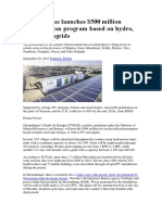 17-09-22 Electrification Program Renewable US500Mio