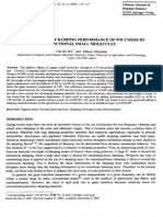Enhancement of Damping Performance of Polymers by Functional Small Molecules