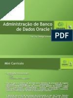 Administração de Banco de Dados I - Aula I