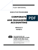 Corporate and Management Accounting