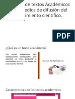 Tipología de Textos Académicos