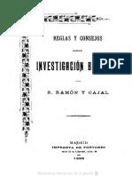 Ramon Y Cajal Santiago - Reglas Y Consejos Sobre Investigación Biológica