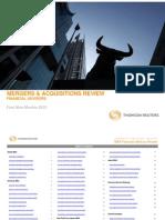 3Q10 MA Financial Advisory Review