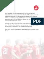 SVFL Aberdeen Statement