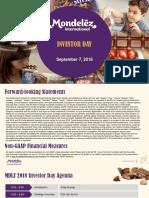 MDLZ Mondelez Investor Day 2018