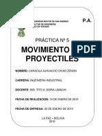 Movimiento de proyectiles