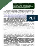 La Medicina Manual Eterica en Sintergética