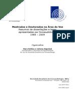 Mestrados e Doutorados Na Area de Voz - 1984 a 2009