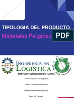 Materiales Peligrosos - Tipologia Del Producto