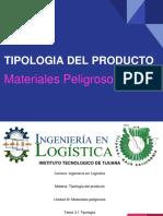 Materiales Peligrosos - Tipologia Del Producto