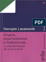 Lapassade, G. Grupos, Organizaciones e Instituciones. (1)