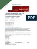 Xamen Admisión UNSA 2015