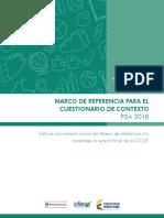 Marco de Referencia Para El Cuestionario de Contexto Pisa-2018