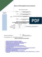 Manual de Procedimientos Para Quirofano