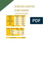 Rendición de Cuentas Team Ganso