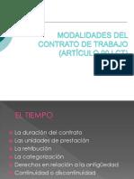 Modalidades Del Contrato de Trabajo 2014 Para Iprimir