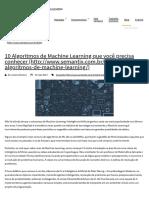 10 Algoritmos de Machine Learning