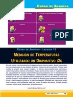 Lección 11 Medición de Temperaturas Utilizando Un Dispositivo i2C