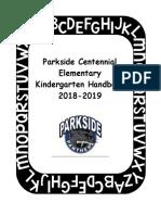 kindergarten handbook 2018-19