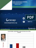 Evaluación de Gobierno Agosto 2018 Beap