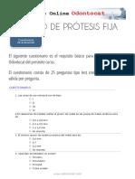 Cuestionario de Evaluación Curso Prótesis Fija