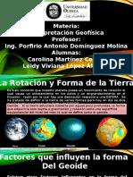 Rotacion y Forma de La Tierra