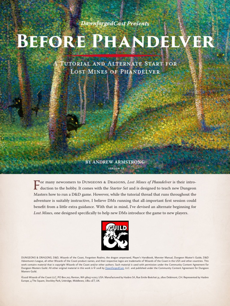 Before_Phandelver_-_A_Tutorial_Adventure pdf | Dungeons