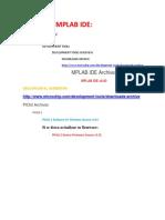 1.1 Descargar y Compilar Con Mplab IDE 8.92 ASM30 Incluido Con La Instalacion (Libpic30-Coff.a y Dspicxxfxxxx.gld Necesarios)