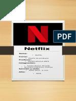 Infografia de NETFLIX