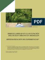 Irregularidad en la ocupación del suelo urbano en Medellín.pdf