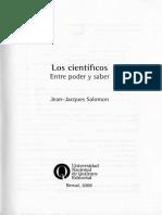 Los cientificos entre poder y Saber  Jean-Jacques Salomon