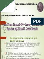 CAP. 13 EX'PLORACIONES GEOTECNICAS - NORMA TECNICA E 050 (1).pdf
