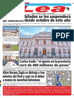 Periódico Lea Lunes 10 de Septiembre Del 2018