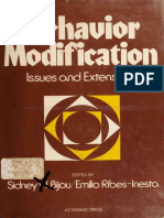 Bijou _ Ribes-Inesta (1972). Behavior Modification - Issues and Extensions