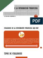 Cualidades de La Informacion Financiera Bajo Niif