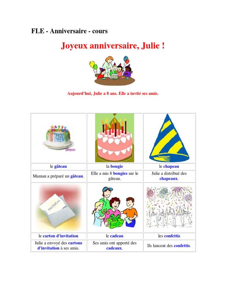 Fle Joyex Anniversaire Julie