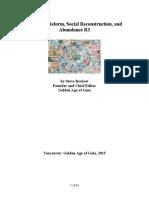Financial Reform Social Reconstruction and Abundance QA R3