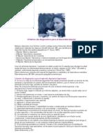 Criterios de diagnóstico para el desorden bipolar