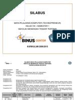Silabus SMP Techno VIII 1 1819