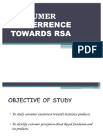 Consumer Preferrence Towards Rsa