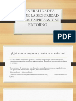 Generalidades Sobre La Seguridad en Las Empresas