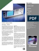 Hipot Analyzer Model 19055 Data Sheet